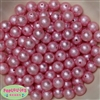 12mm Pink Crinkle Pearl Bubblegum Beads