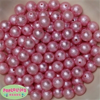 12mm Pink Crinkle Pearl Beads 40 pc