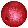 12mm Red Crinkle Pearl Bubblegum Bead