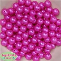 12mm Rose Crinkle Pearl Bubblegum Beads