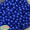 12mm Royal Blue Crinkle Pearl Bubblegum Beads