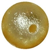 12mm Yellow Crinkle Pearl Bead
