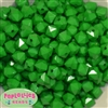 12mm Green Acrylic Cube Bubblegum Beads