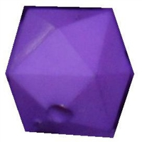 12mm Purple Acrylic Cube Bubblegum Bead
