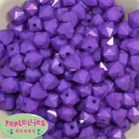 12mm Purple Acrylic Cube Bubblegum Beads