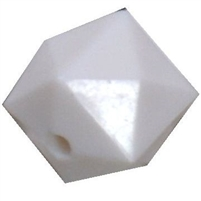 12mm White Acrylic Cube Bubblegum Bead