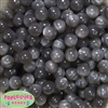 12mm Gray Flannel Bubblegum Beads