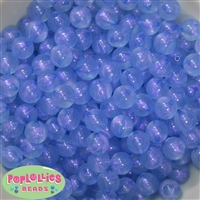 12mm Baby Blue Frost Beads