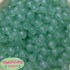 12mm Mint Frost Acrylic Bubblegum Beads sold in packages of 50 beads