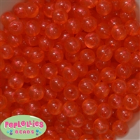 12mm Orange Frost Acrylic Bubblegum Beads sold in packages of 50 beads