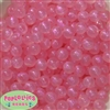 12mm Pink Frost Acrylic Bubblegum Beads sold in packages of 50 beads