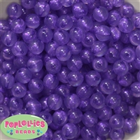 12mm Purple Frost Acrylic Bubblegum Beads sold in packages of 50 beads