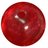 12mm Acrylic Red Frost Bubblegum Beads sold by the bead