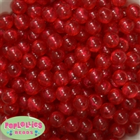 12mm Red Frost Acrylic Bubblegum Beads sold in packages of 50 beads