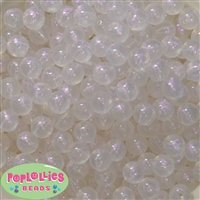12mm White Frost Acrylic Bubblegum Beads sold in packages of 50 beads