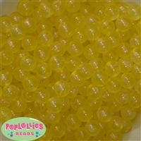 12mm Yellow Frost Acrylic Bubblegum Beads sold in packages of 50 beads