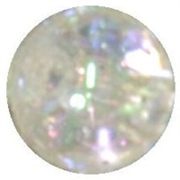 12mm Clear Glitter Bead
