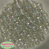 12mm Clear Glitter Beads