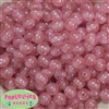 12mm Pink Glitter Bubblegum Beads