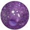 12mm Purple Glitter Bubblegum Beads