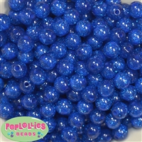 12mm Royal Glitter Bubblegum Beads
