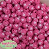 12mm hot pink with white heart resin Bubblegum Beads