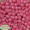 12mm pink with white heart resin Bubblegum Beads