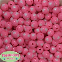12mm Pink Heart Beads 40 pc