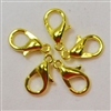 12mm Gold tone Lobster Claw Clasps