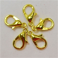 Gold Tone Lobster Claw Clasps