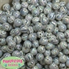 12mm Black and White Marble Beads sold in packages of 40 beads