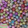 12mm Multi Colored Marble Beads sold in packages of 40 beads
