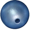 12mm matte baby blue acrylic faux pearl bead sold by the bead
