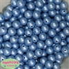 12mm matte baby blue acrylic faux pearl bead 2mm
