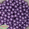 12mm matte lavender acrylic faux pearl bead 2mm