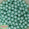 12mm matte mint acrylic faux pearl bead 2mm