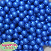 12mm matte royal blue acrylic faux pearl bead