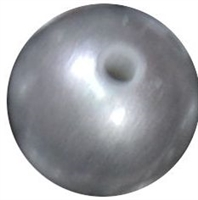 12mm matte silver acrylic faux pearl bead sold by the bead