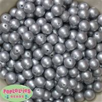 12mm Matte Silver Pearl Bead