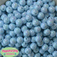 12mm Baby Blue Miracle Beads