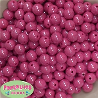 12mm Cranberry AB Finish Miracle Acrylic Bubblegum Beads
