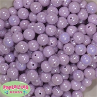 12mm Lavender AB Finish Miracle Acrylic Bubblegum Beads