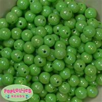12mm Lime Miracle Beads