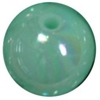 12mm Mint AB Finish Miracle Acrylic Bubblegum Beads