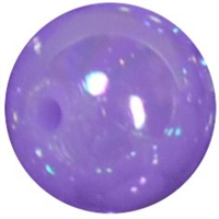 12mm Neon Lavender AB Finish Miracle Acrylic Bubblegum Beads