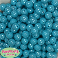 12mm Teal Miracle Beads