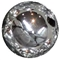 12mm Silver Mirror Bead