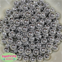 12mm Silver Mirror Beads 40 pc
