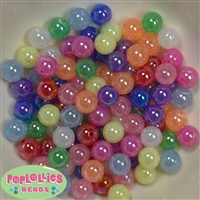 12mm Mix Color AB Finish Bubble Acrylic Bubblegum Beads