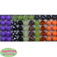 12mm Mixed Style Halloween Acrylic Beads sold in packages of 50 beads